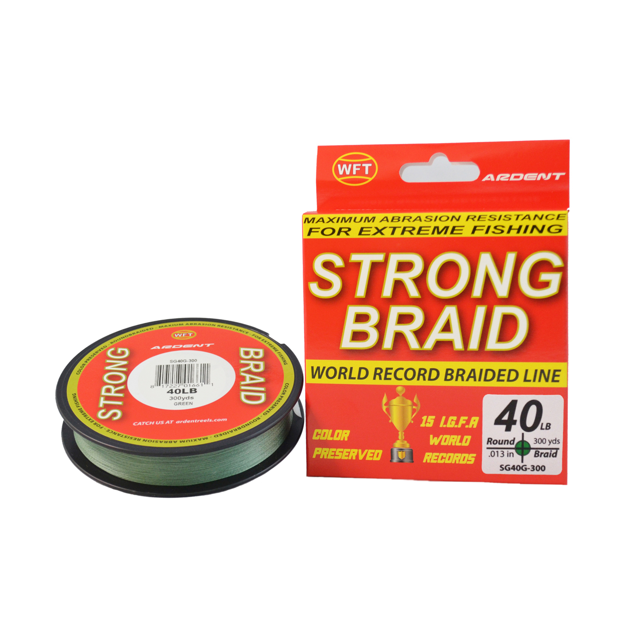 Ardent Strong Braid Fishing Line - Green 40  300 yd