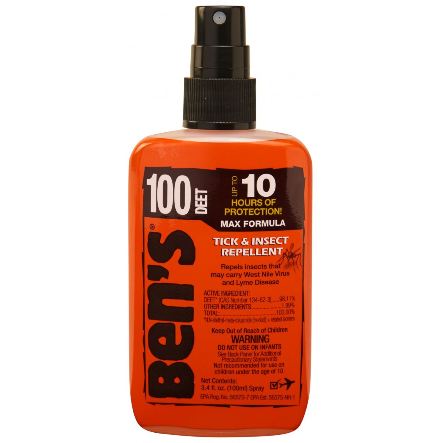 Bens 100 Tick and Insect Repellent Pump 3.4 oz