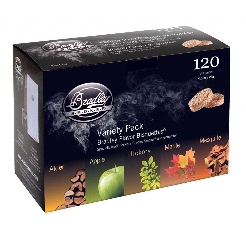 Bradley Flavor Bisquettes-5 Flavor Variety 120Pk