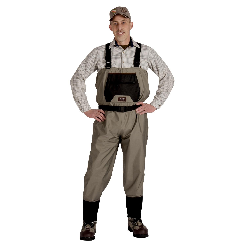 Caddis Mens Breathable Stockingfoot Waders - Large Tan
