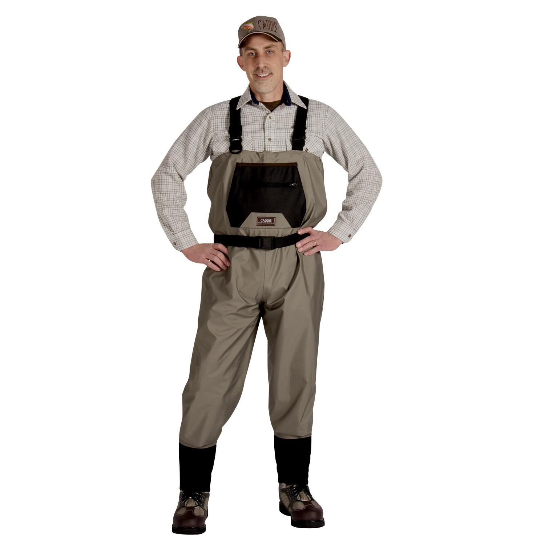 Caddis Mens Breathable Stockingfoot Waders - XL Stout Tan