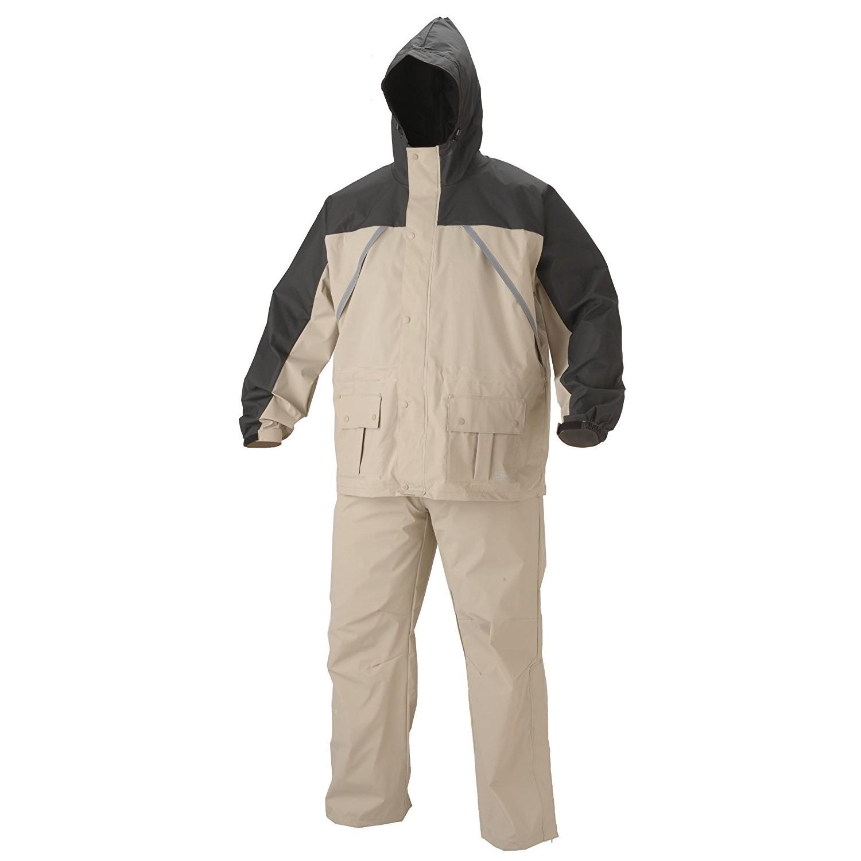 Coleman Apparel Suit PVC Nylon Tan Size Large