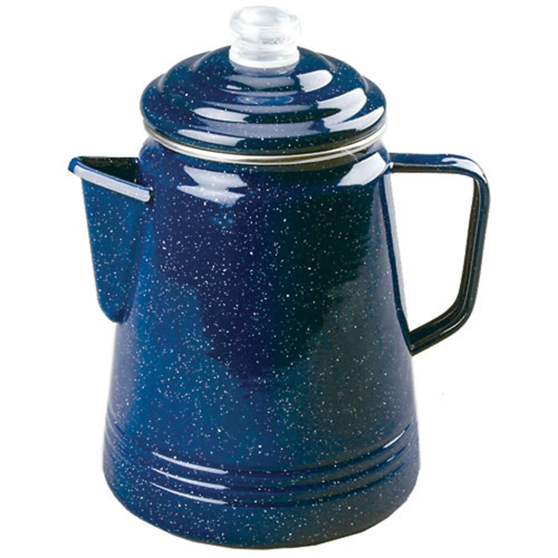 Coleman 14 Cup Enamelware Percolator Blue
