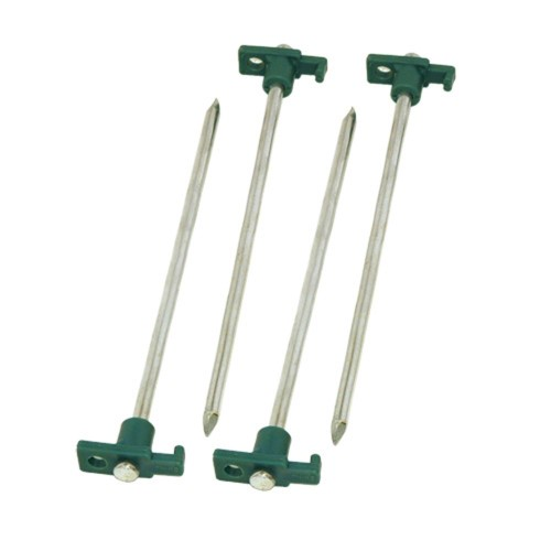 Coleman 10 Inch Steel Tent Stakes Green/Silver