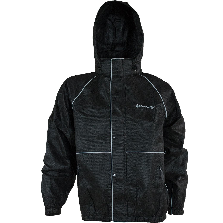 Compass 360 RoadTek Reflective Riding Jacket-Black-Size SM