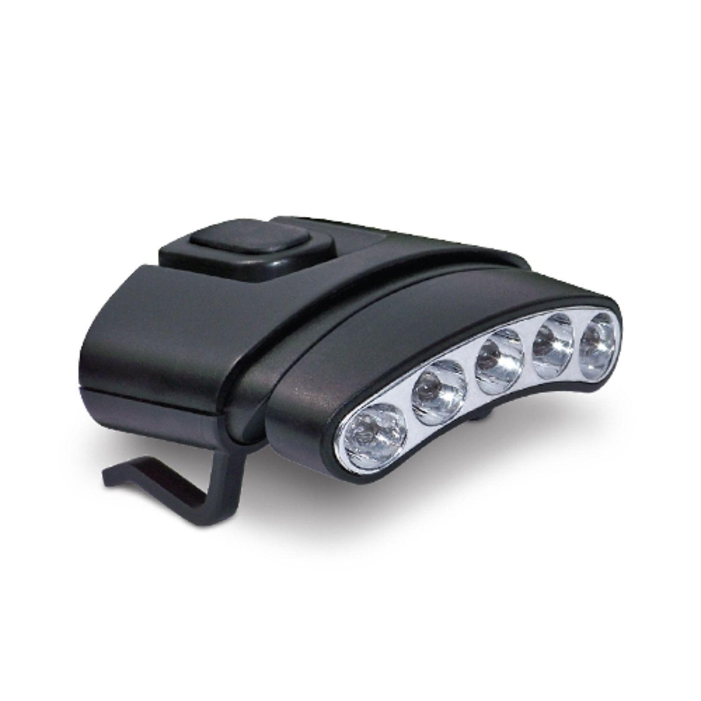 Cyclops 5 Bulb Hat Clip Light Black