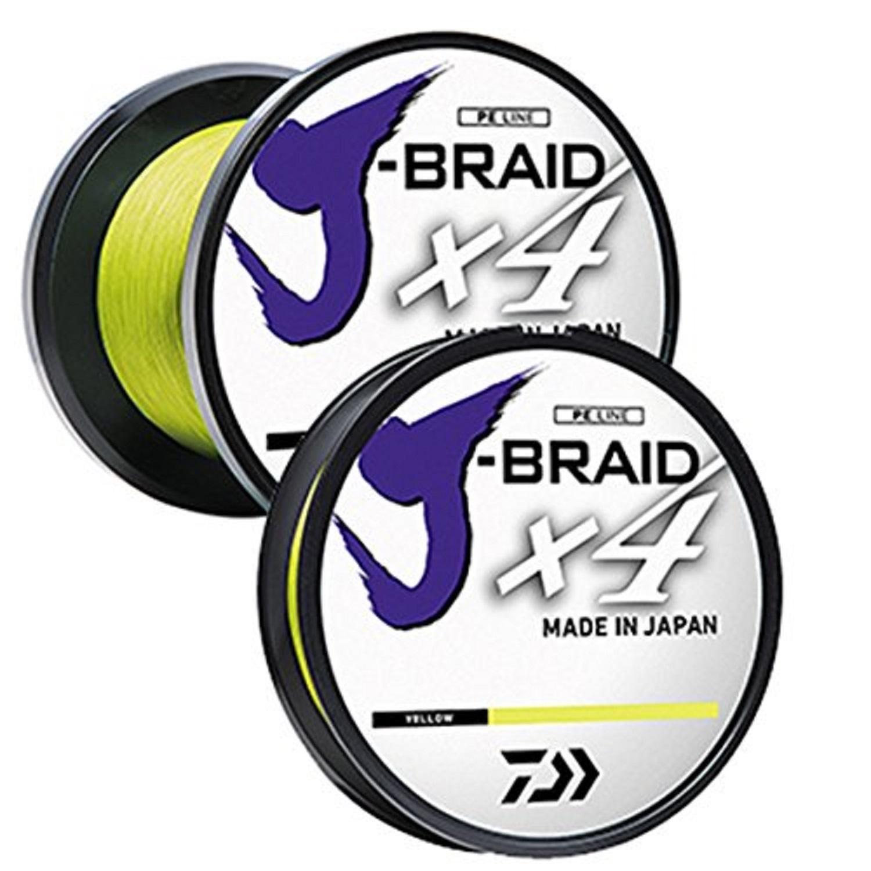 Daiwa J-Braid X4 300 Yard Spool 65LB Test - Fluorescent Yllw