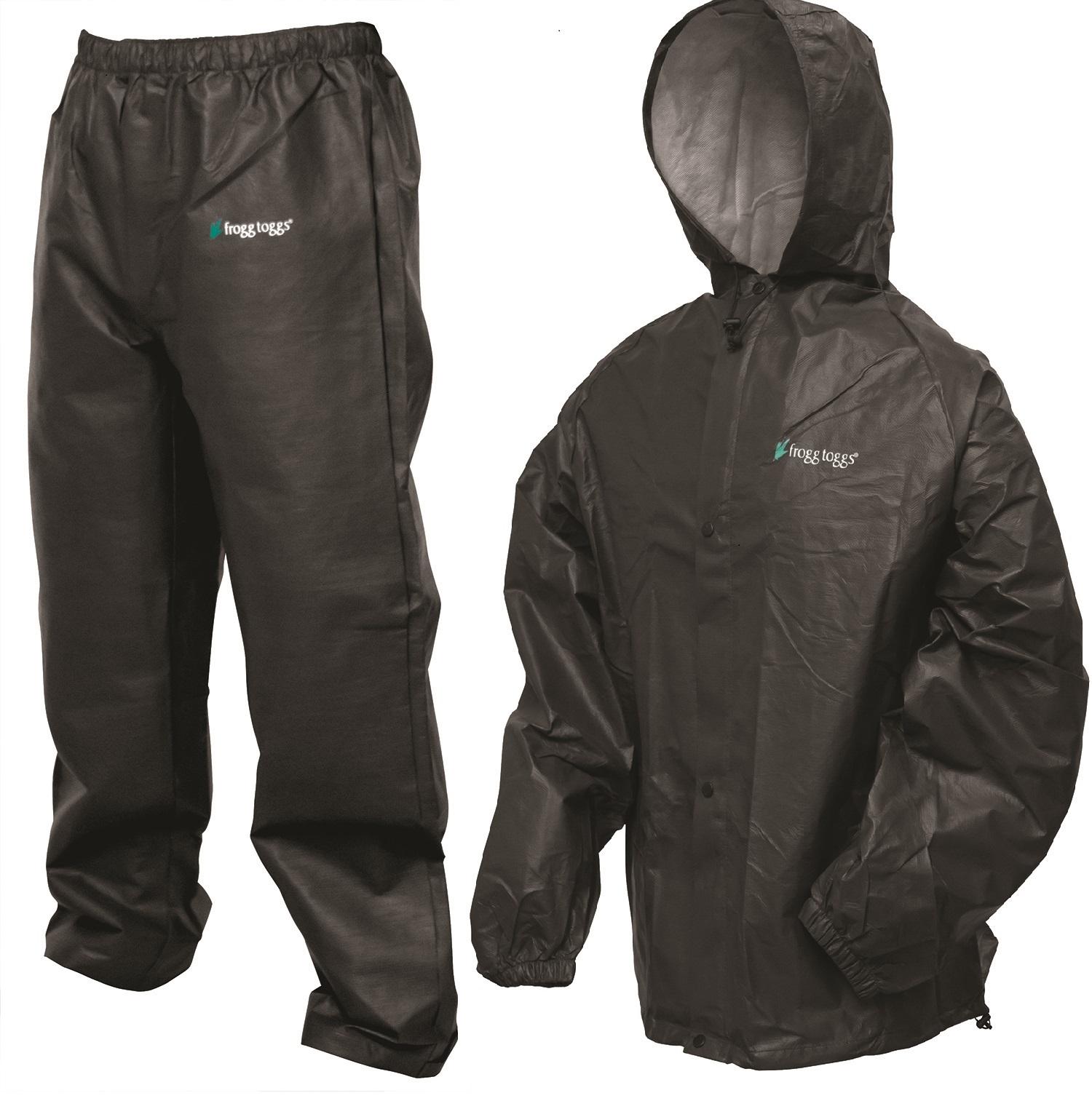 Frogg Toggs Pro Lite Rain Suit Black - X XXL