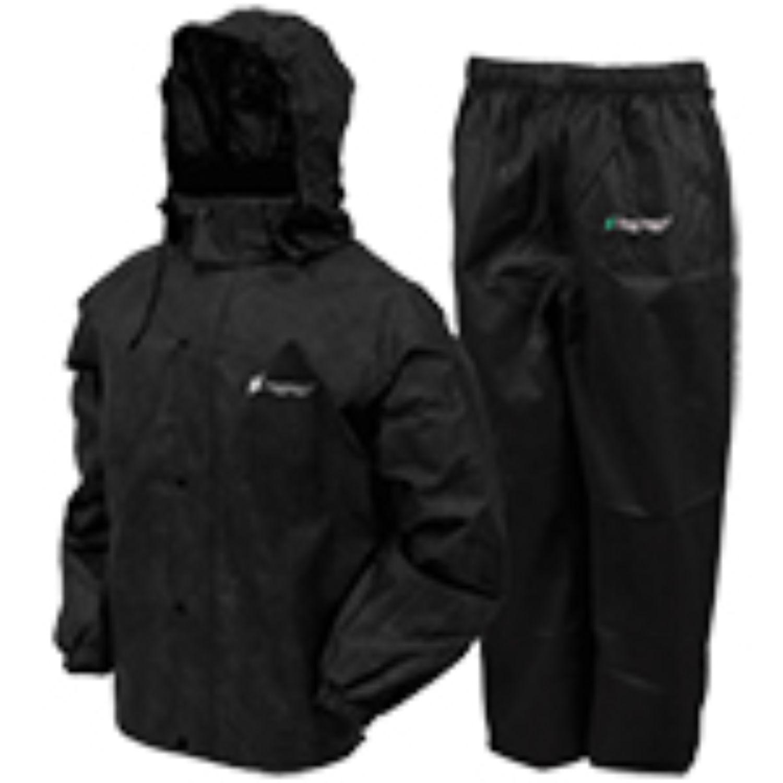 Frogg Toggs Mens Classic All Sport Rainsuit Black LG