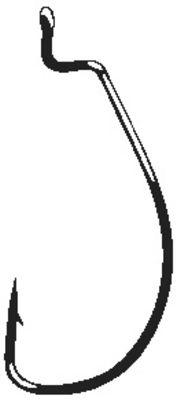Gamakatsu Offset Shank Worm Ewg Red Hook Size 3/0 25 Pack