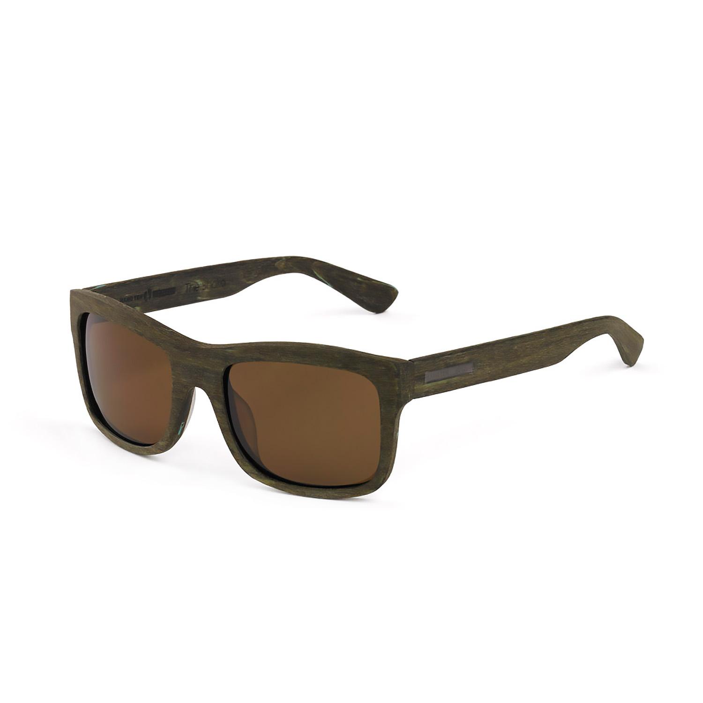 Hang Ten Gold The Shaka-Brown Turquois Wood/Brown Lens