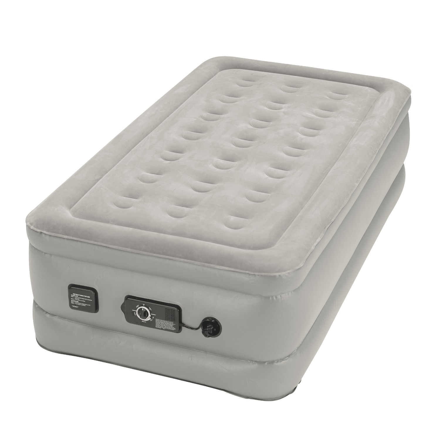 Insta-bed Raised Twin Airbed with NeverFlat Pump
