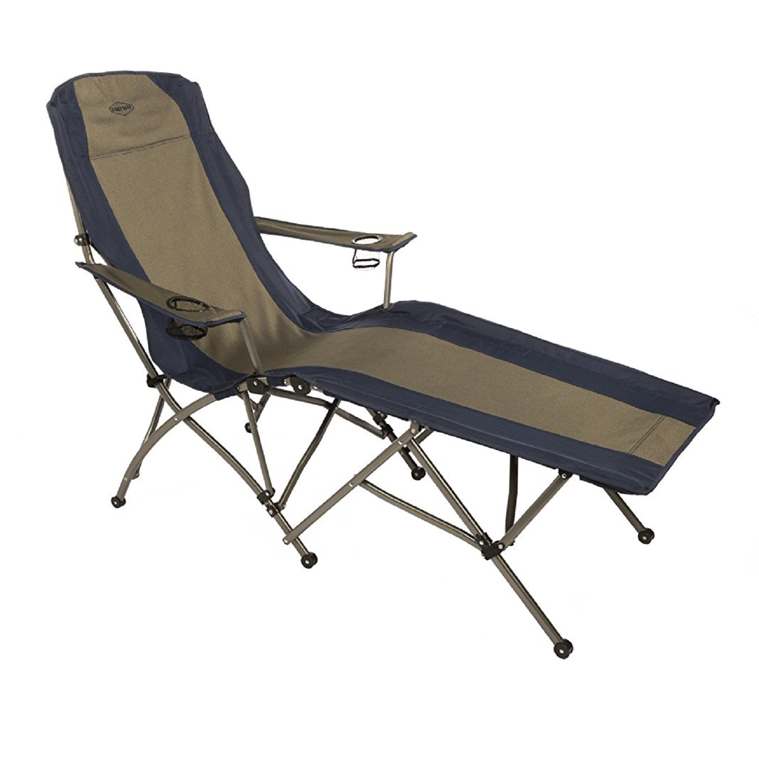 Kamp-Rite Soft Arm Lounger - Tan Blue