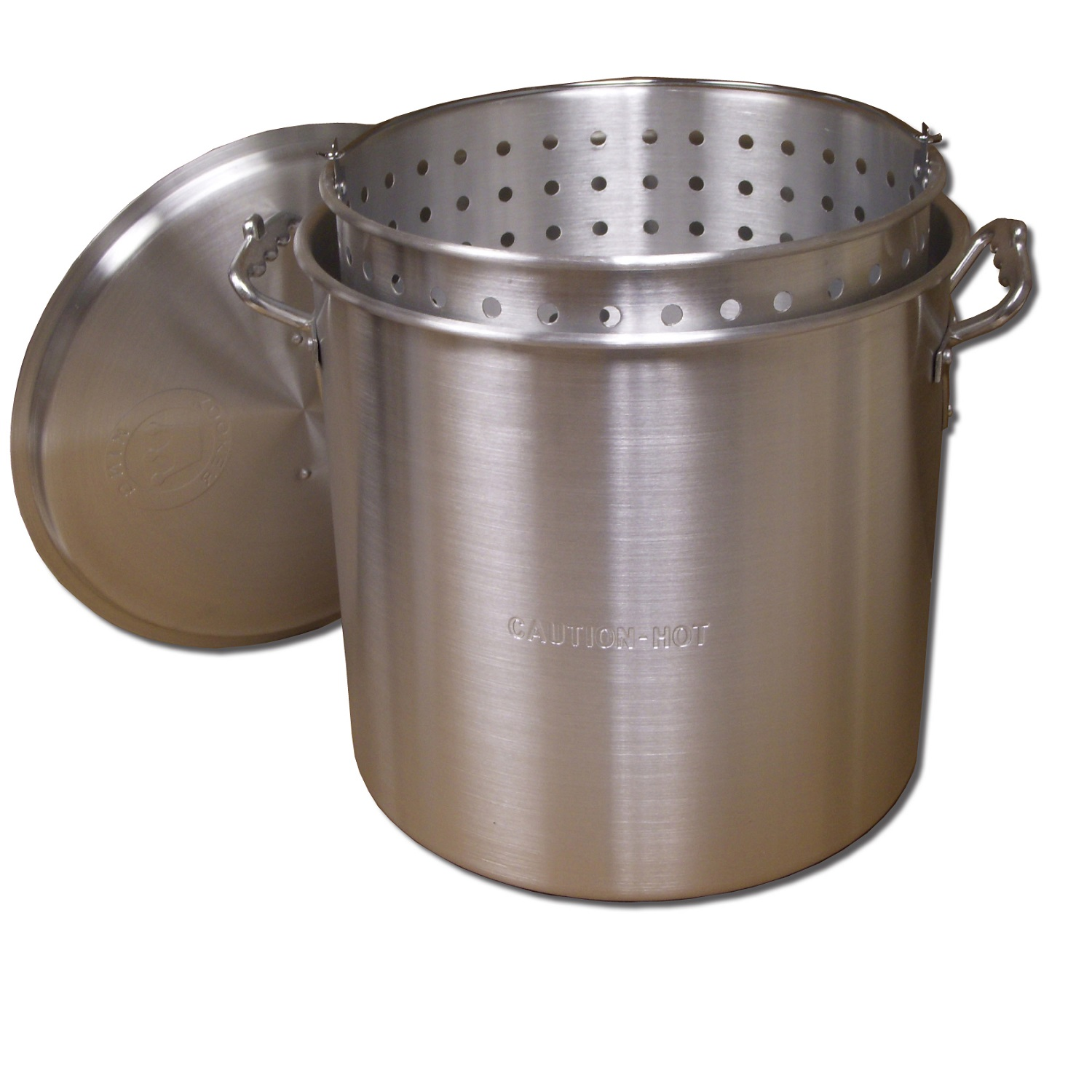 King Kooker  KK32-32 Qt. Aluminum Pot with Basket and Lid