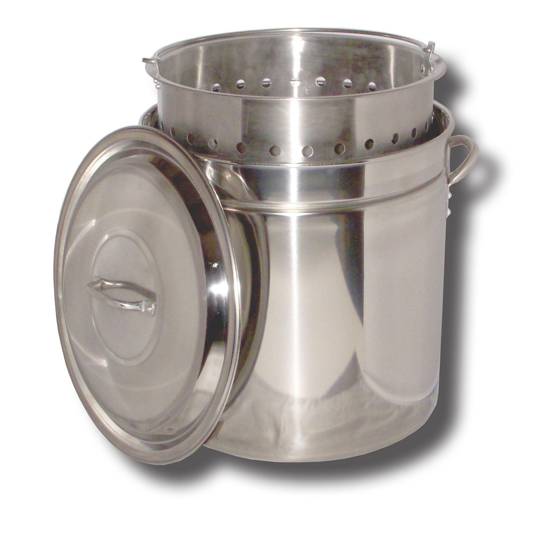 King Kooker KK36SR-36 Qt. Stainless Steel Pot - Basket - Lid