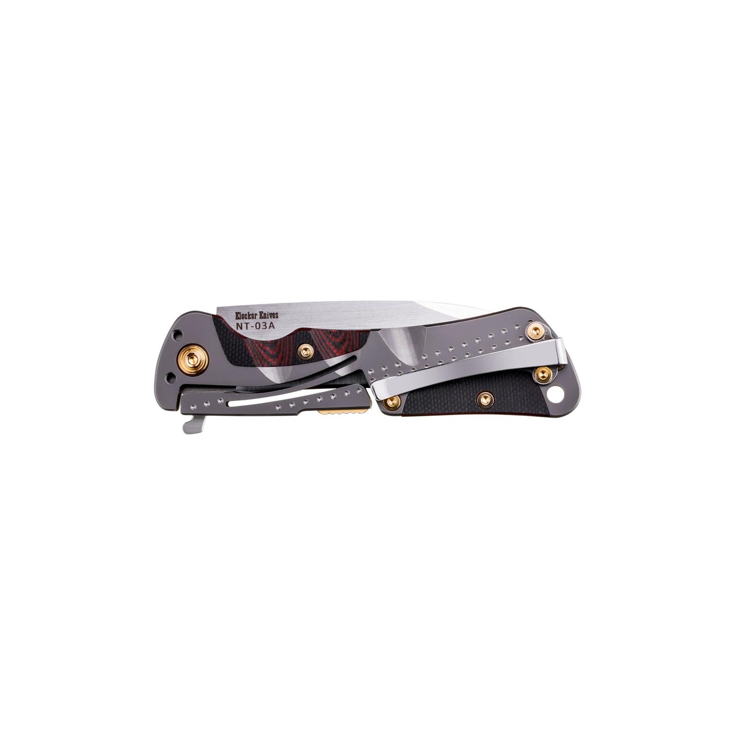 Klecker-Knives-Cordovan-Lite-Folding-Knife-2-88-034-Blade-Stainless-Steel thumbnail 3
