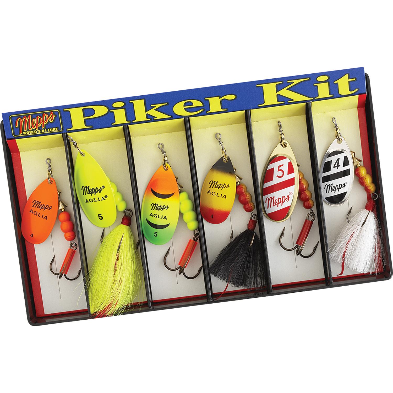 Mepps Piker Kit -  4 and  5 Aglia Assortment