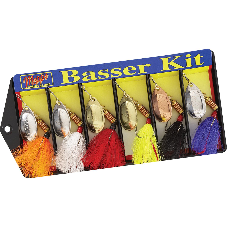 Mepps Basser Kit - Dressed  3 Aglia Assortment