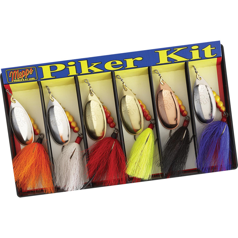 Mepps Piker Kit - Dressed  5 Aglia Assortment