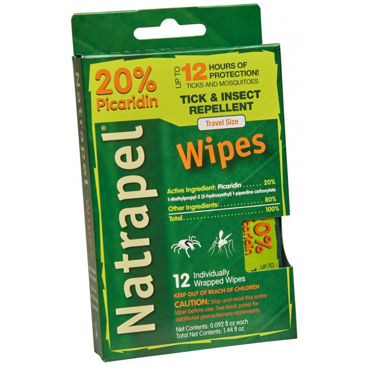 Natrapel 12-hour Picaridin Wipes 12 Count