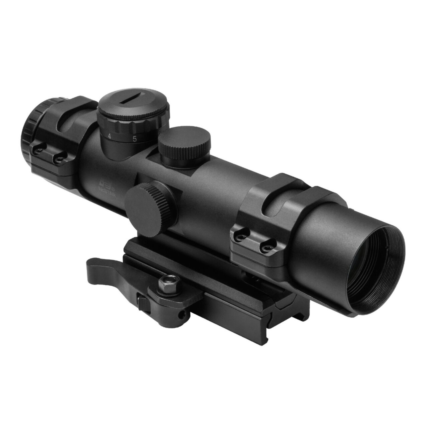 NcSTAR XRS 2-7X32 Compact Scope Blue ILL. Mil-Dot w Weaver