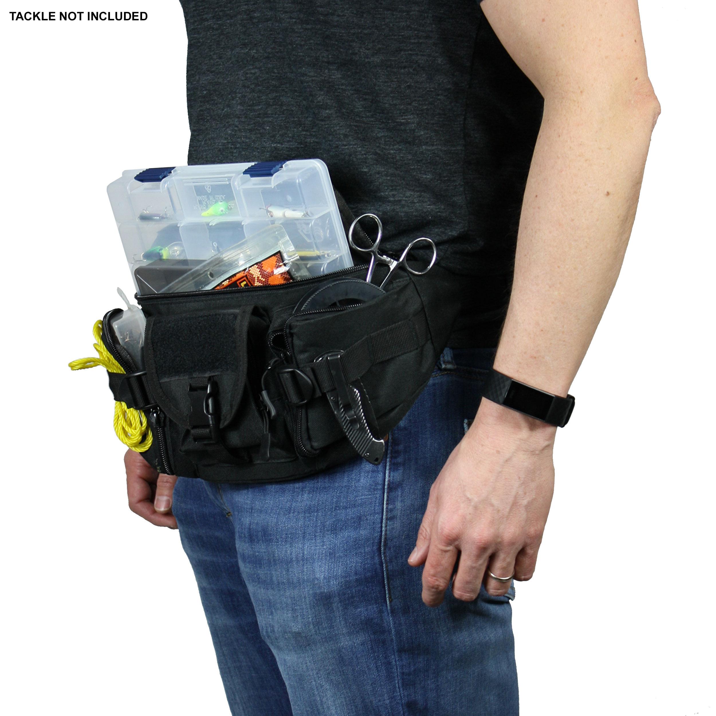 Crossbody Osage River Fishing Tackle Bag Waist Fanny Pack Portable Storage