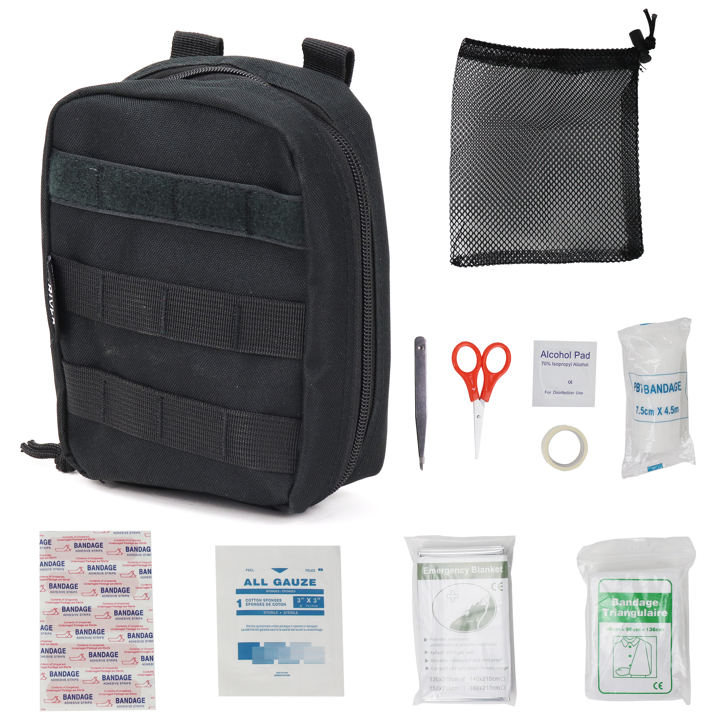 Osage River Compact First Aid Kit - Black