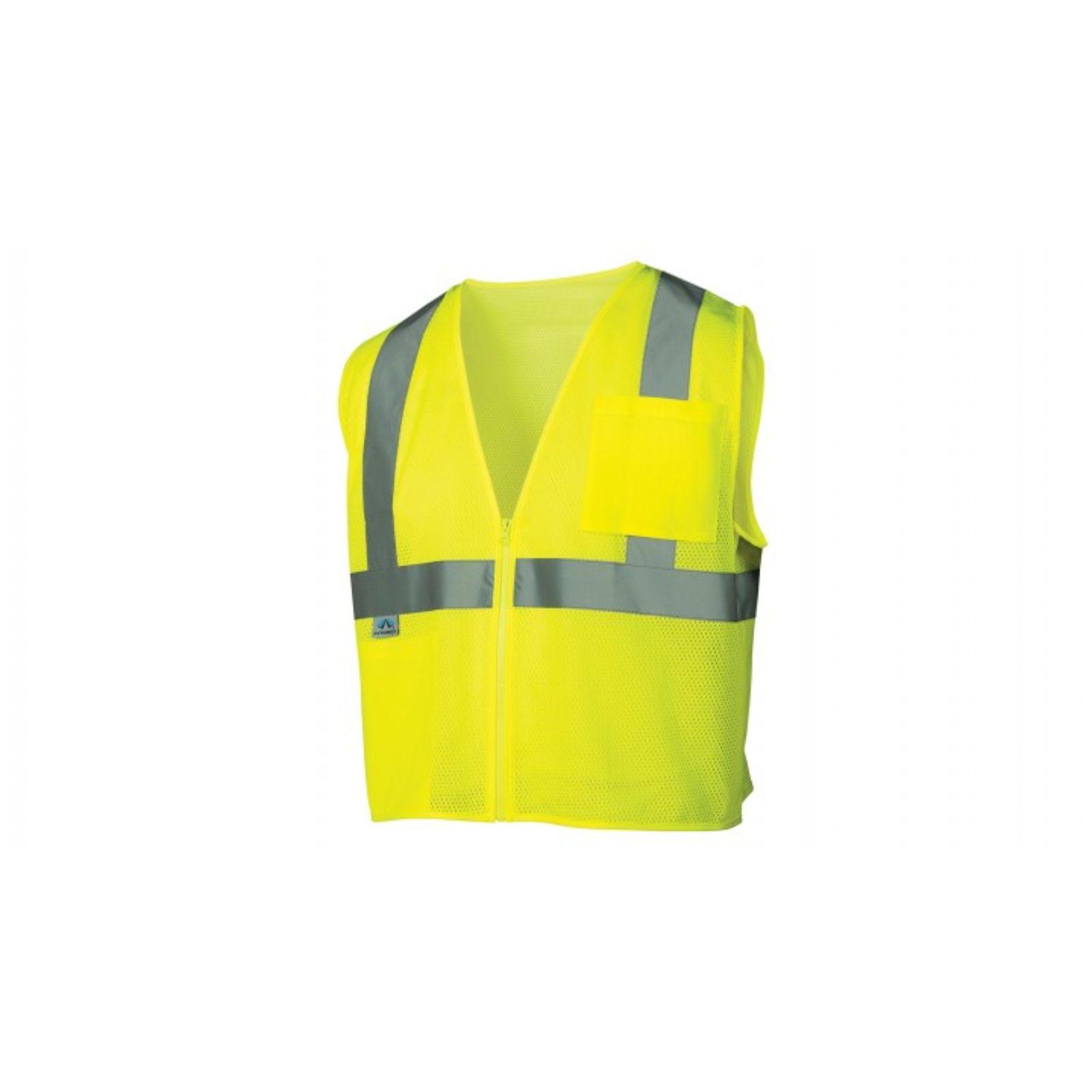 Pyramex Safety Vest Hi-Vis Lime XL