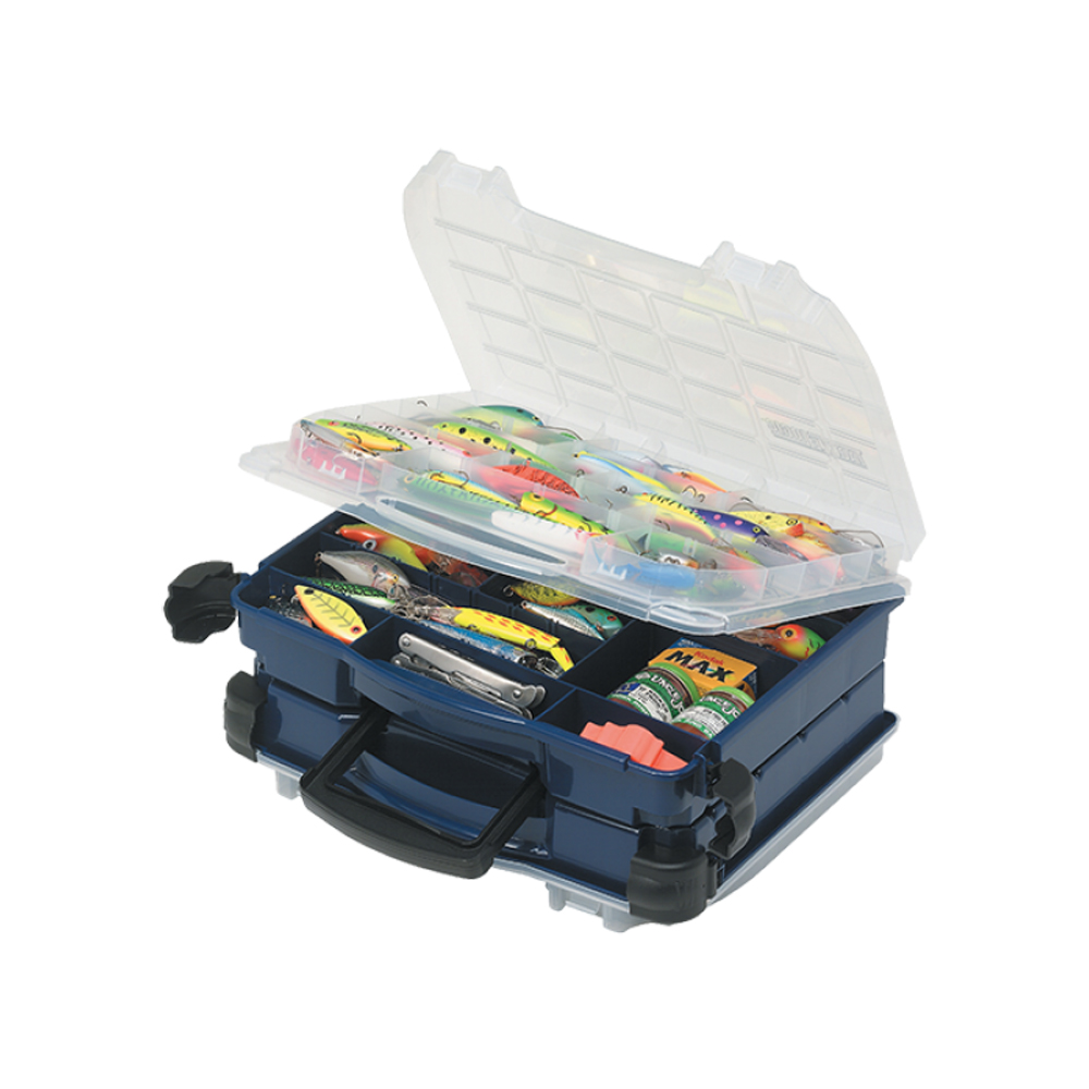 Plano 2-Sided Double-Cover Blue Tackle Box