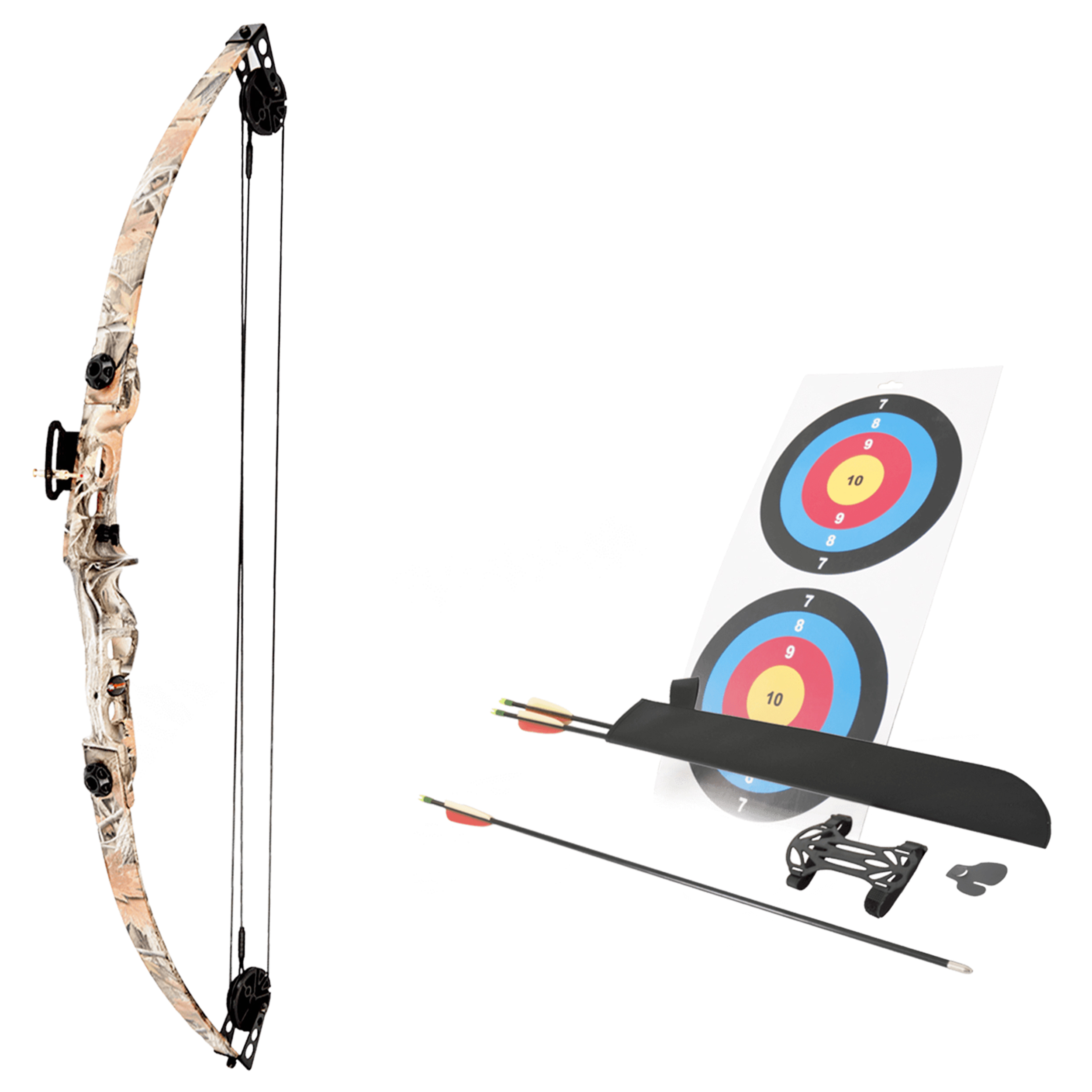 SA Sports Elk Youth Compound Bow Set 564. Right Handed, Camo