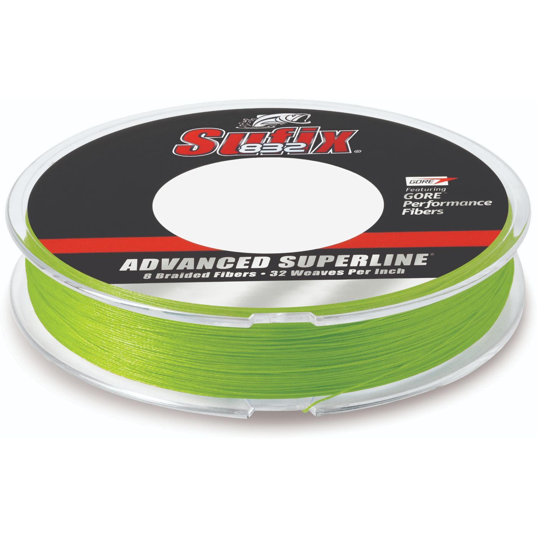 Sufix Advanced Superline 832 Braid 80 lb Neon Lime 300 yds