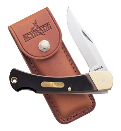 Old Timer Golden Bear Folder 3.75 in Blade Delrin Handle