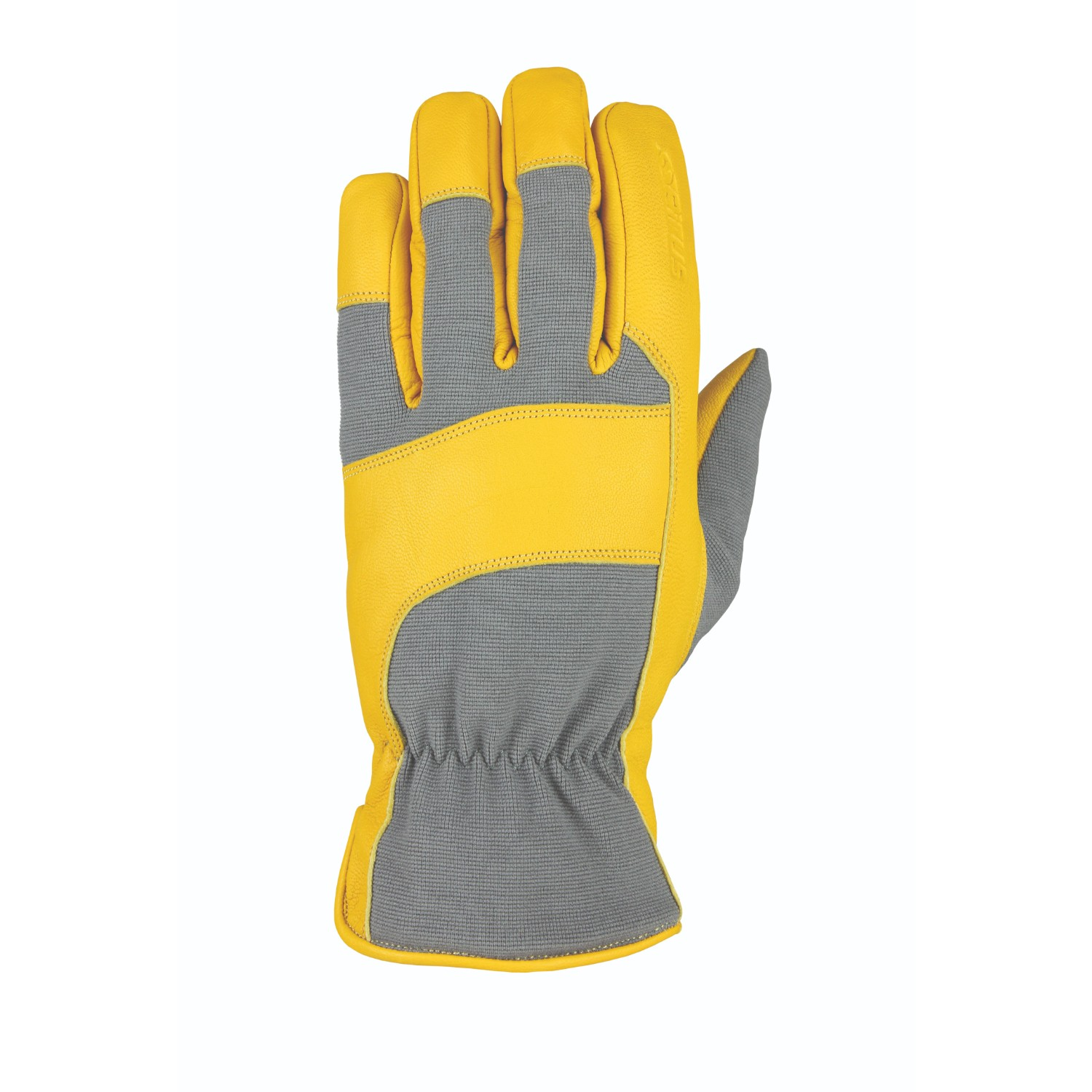 Heatwave Leather Glove Gray Tan Goatskin