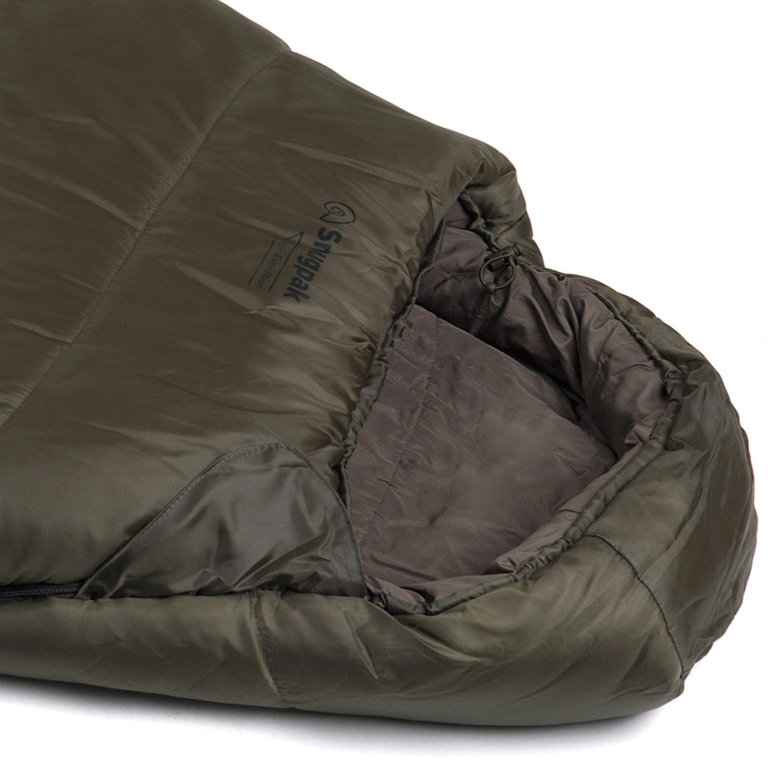 Snugpak-Basecamp-Ops-Sleeper-Expedition-Sleeping-Bag-4-Season-Insulated-Olive thumbnail 2