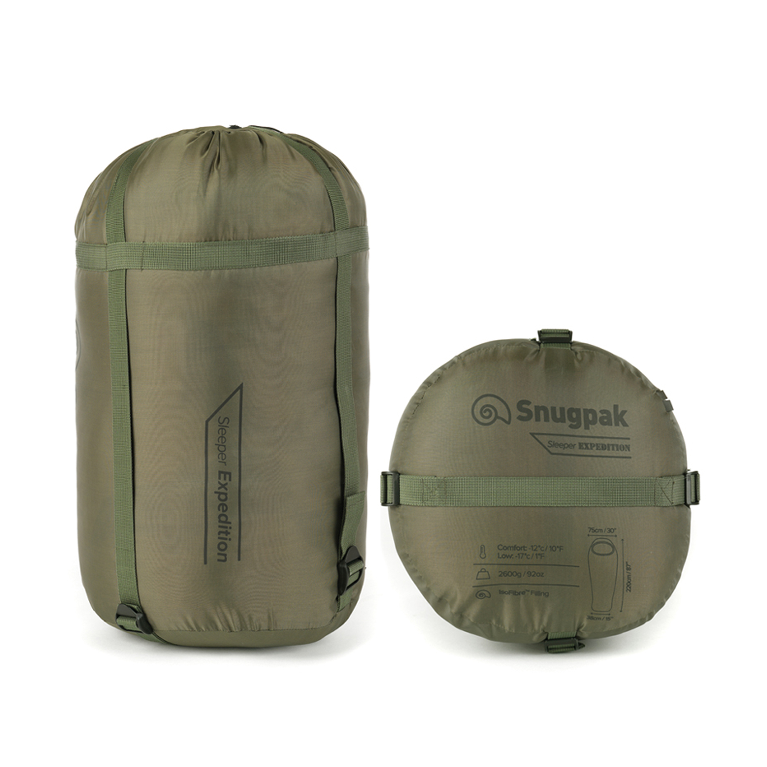 Snugpak-Basecamp-Ops-Sleeper-Expedition-Sleeping-Bag-4-Season-Insulated-Olive thumbnail 5