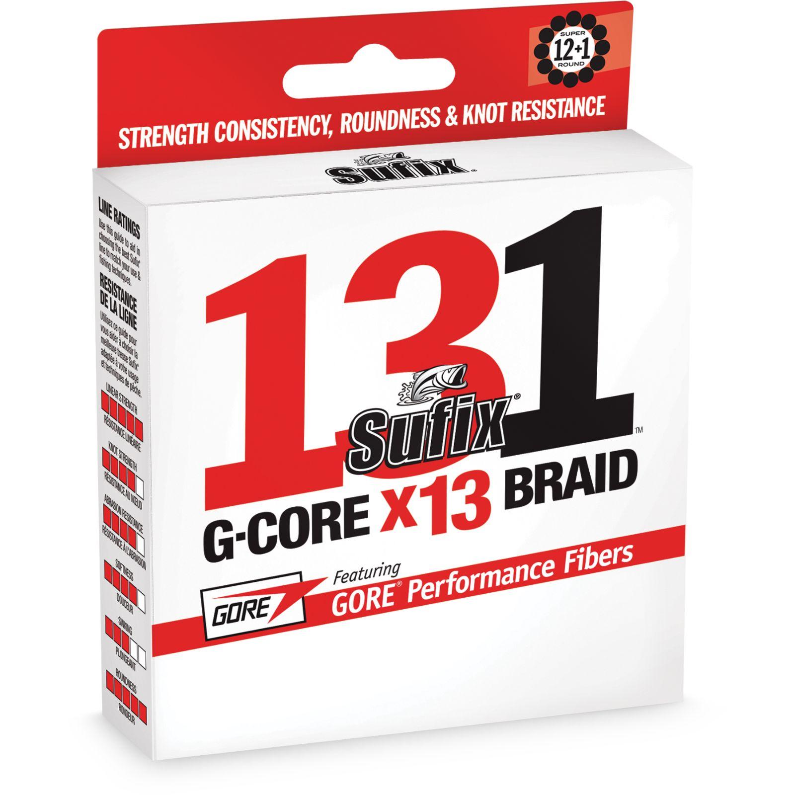 Sufix 131 Braid 65 lb Low-Vis Green 150 Yds
