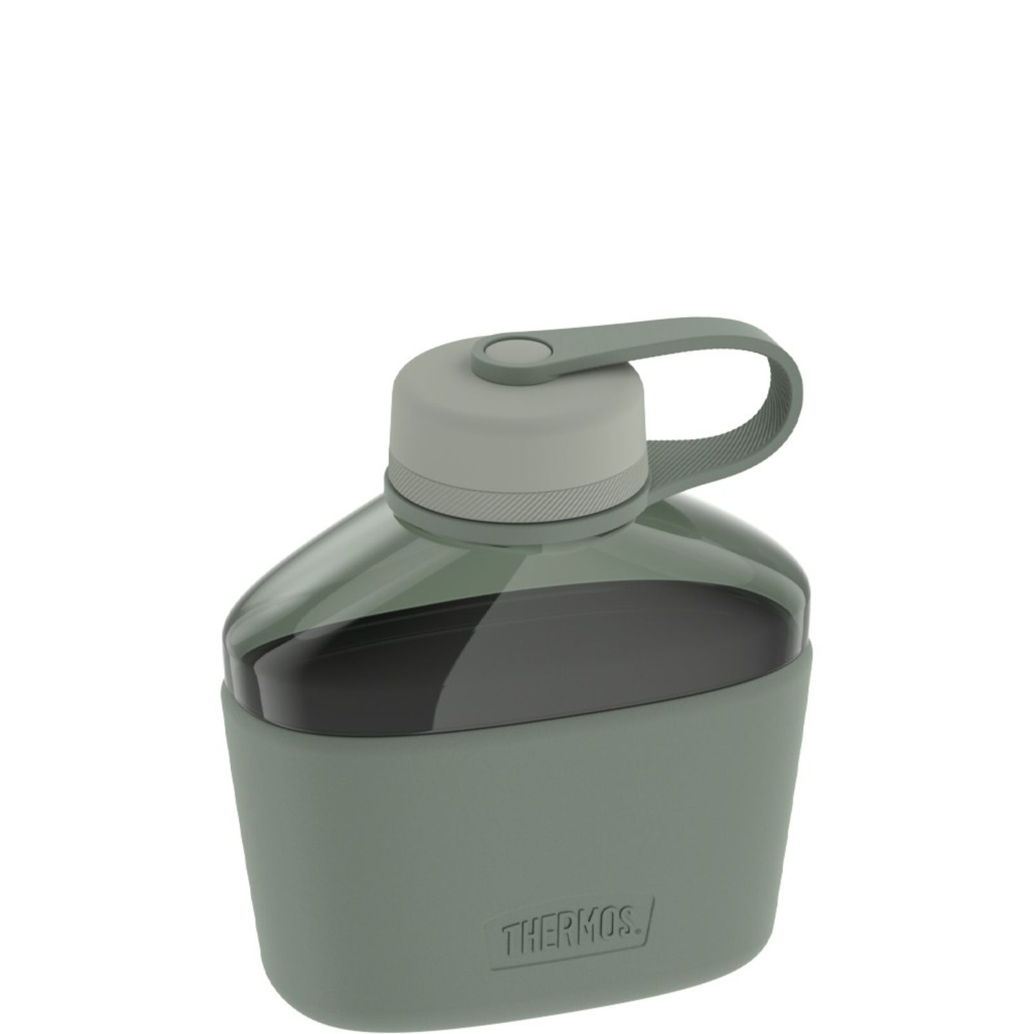 Thermos 32 oz Canteen Hydration Bottle w Silicone Sleeve Grn