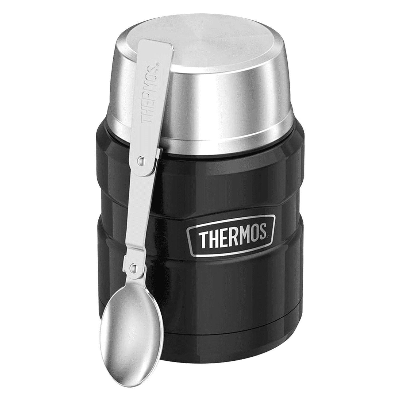 Thermos 16oz Stainless Steel Food Jar w Folding Spoon Black