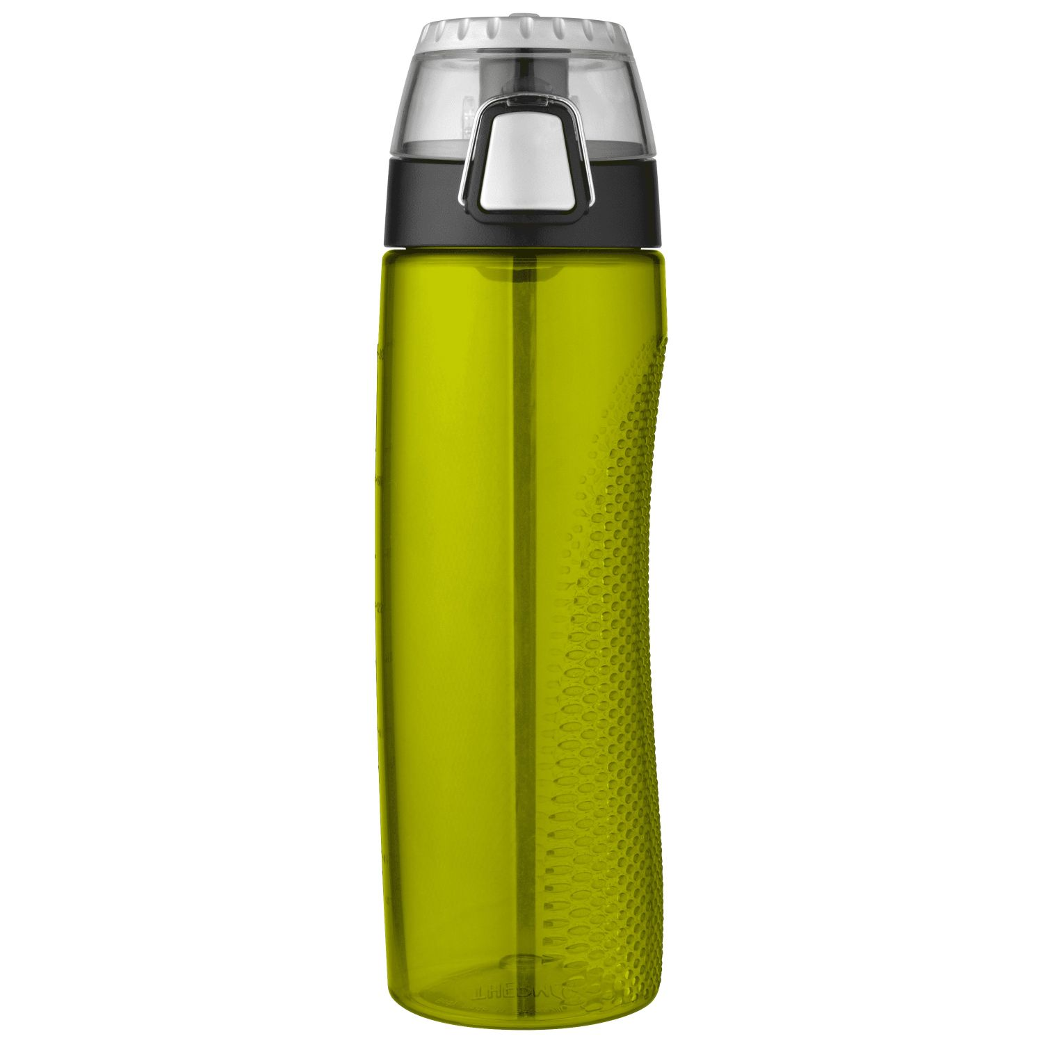 Thermos 24oz BPA Free Plastic Hydration Bottle w Meter Green