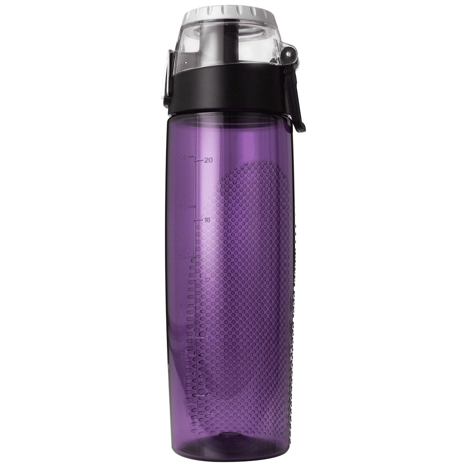 Thermos 24 oz Plastic Hydration Bottle w Meter Purple