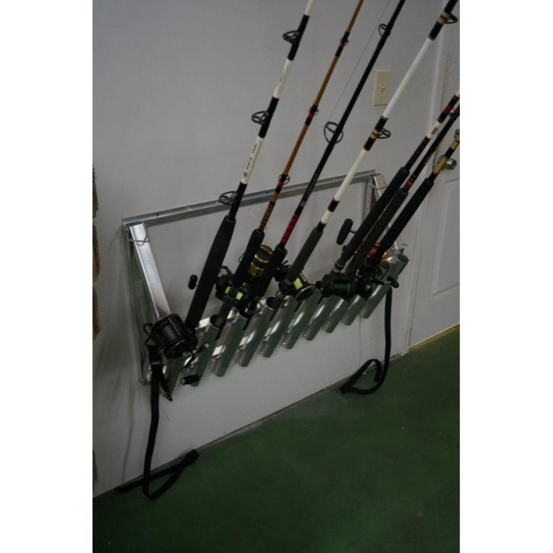 Viking Solutions Truck and Wall Aluminum Fishing Rod Rack