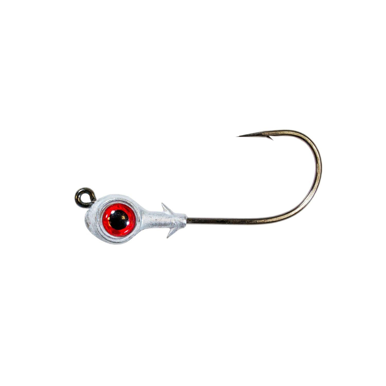 Zman Redfish Eye Jig Heads 0.125 Oz-Red